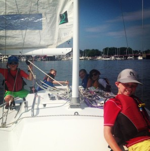 Sailing a J22 around Annapolis, Summer 2013