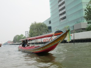February 2013 I visited Thailand. One of my favorite parts was riding the Longtail boats around Bangkok.