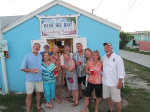 Folks from the SW enjoying rum punch from Miss Emily's bar in Green Turtle Cay, Bahamas!