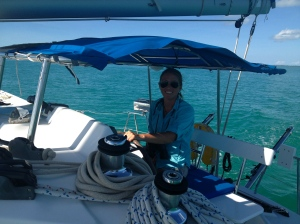 Motor Sailing on a delivery from Marsh Harbour to Ft. Lauderdale, FL.