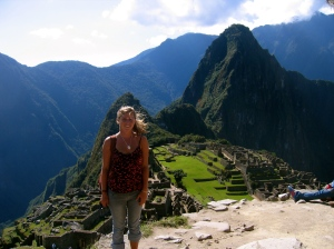 Visiting Machu Picchu my senior year of St. Mary's College.