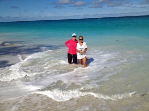 Maria & I at Paradise Island, Nassau